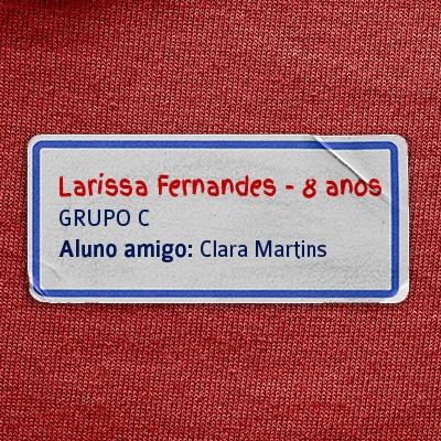sugestão de etiqueta de identificação com o nome do aluno e do amigo do aluno